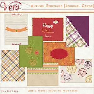Autumn Serenade Journal Cards by Vero