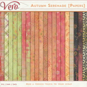 Autumn Serenade Patterned Papers by Vero
