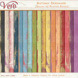 Autumn Serenade Painted Edge Solid Papers by Vero