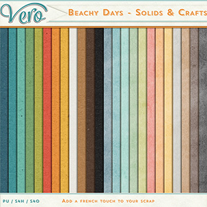 Beachy Days Solid Papers by Vero