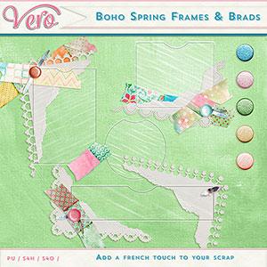Boho Spring Frames & Brads by Vero
