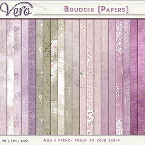 Boudoir Patterned Papers by Vero