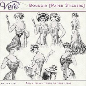 Boudoir Paper Stickers by Vero