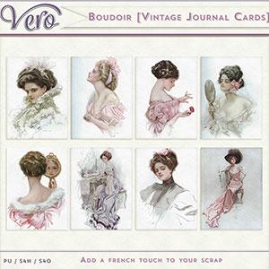 Boudoir Vintage Journal Cards by Vero