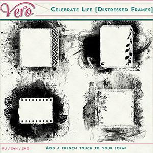 Celebrate Life - Distressed Frames
