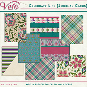 Celebrate Life Journal Cards Set 01 by Vero