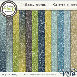 Early Autumn Glitter Sheets by Vero