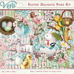 Easter Delights Page Kit by Vero