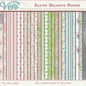 Easter Delights Patterned Papers by Vero