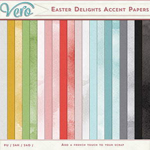Easter Delights Solid & Watercolor Papers by Vero
