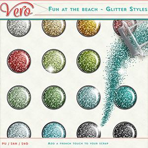 Fun at the beach - Glitter styles