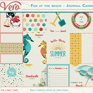 Fun at the beach - Journal cards