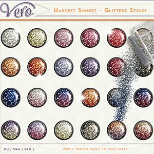 Harvest Sunset Glitter Styles by Vero