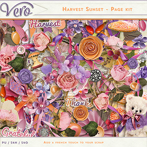 Harvest Sunset Page Kit by Vero