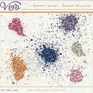 Harvest Sunset - Sequins Splatters