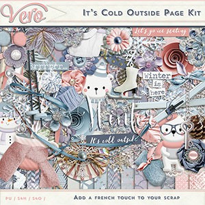 It's Cold Outside Page Kit by Vero