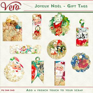 Joyeux Noel - Gift Tags