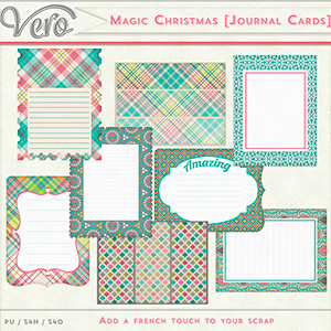 Magic Christmas Journal Cards by Vero