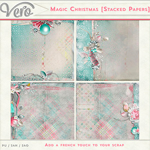 Magic Christmas Stacked Papers by Vero