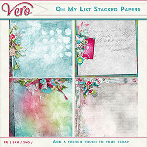 On My List Stacked Papers by Vero