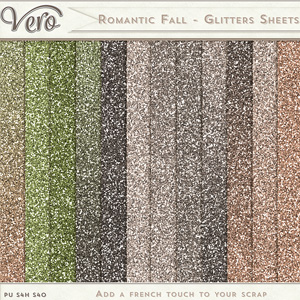 Romantic Fall - Glitters Sheets