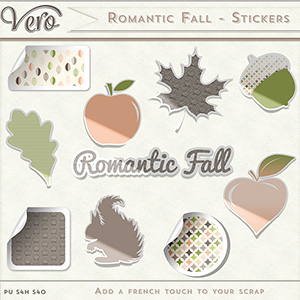 Romantic Fall Stickers by Vero