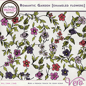 Romantic Garden - Enamelled flowers