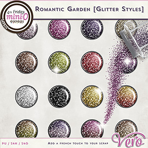 Romantic Garden Glitter Styles by Vero