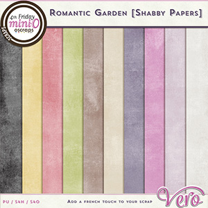 Romantic Garden Shabby Papers by Vero