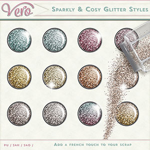 Sparkly and Cosy Glitter Styles by Vero