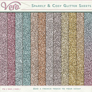 Sparkly and Cosy Glitter Sheets by Vero