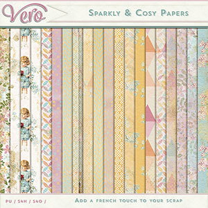 Sparkly and Cosy Patterned Papers by Vero