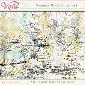 Sparkly and Cosy Stamps by Vero