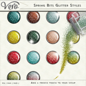 Spring Bits Glitter Styles by Vero