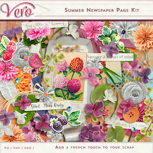Summer Newspaper Page Kit by Vero