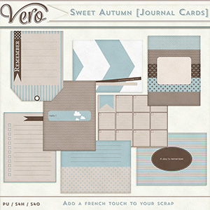 Sweet Autumn Journal Cards by Vero
