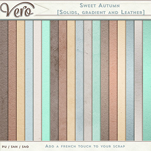 Sweet Autumn Solids Gradients and Leathers Papers by Vero