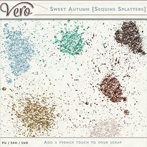 Sweet Autumn Sequin Splatters by Vero