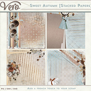 Sweet Autumn Stacked Papers by Vero