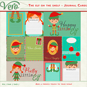 The Elf On The Shelf Journal Cards by Vero