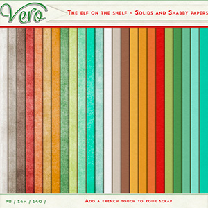 The Elf On The Shelf Solid and Shabby Papers by Vero