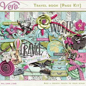 Travel Book Page Kit by Vero