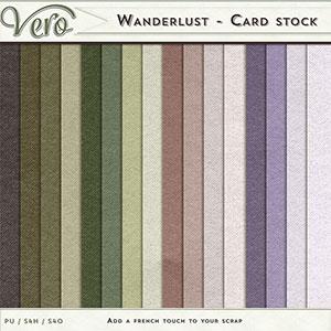 Wanderlust Cardstock Papers by Vero
