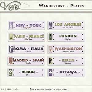Wanderlust - Plates