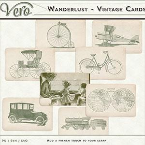 Wanderlust Vintage Journal Cards by Vero