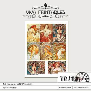Art Nouveau Printables: ATC