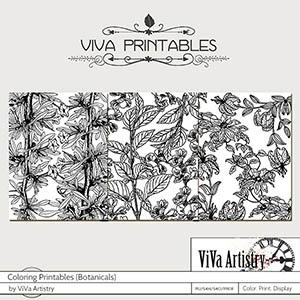 Coloring Printables Botanicals