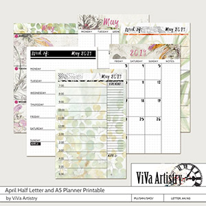 May 2019 Half Letter and A5 Planner Printable
