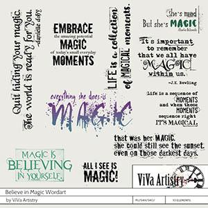 Believe in Magic Wordart