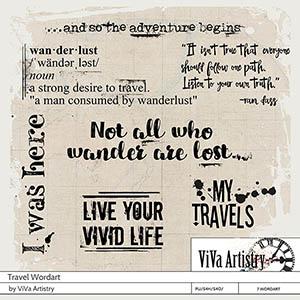 Travel Wordart